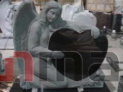 Black granite angel tombstone DSF-M028
