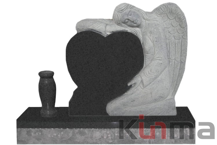 Weeping and huging sorry letters Angel Tombstone