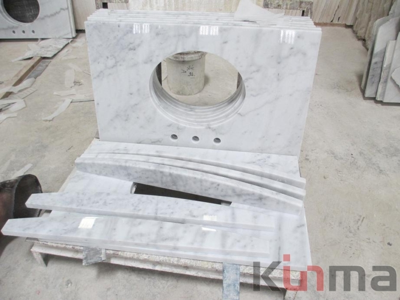 New White Cararra vanity top