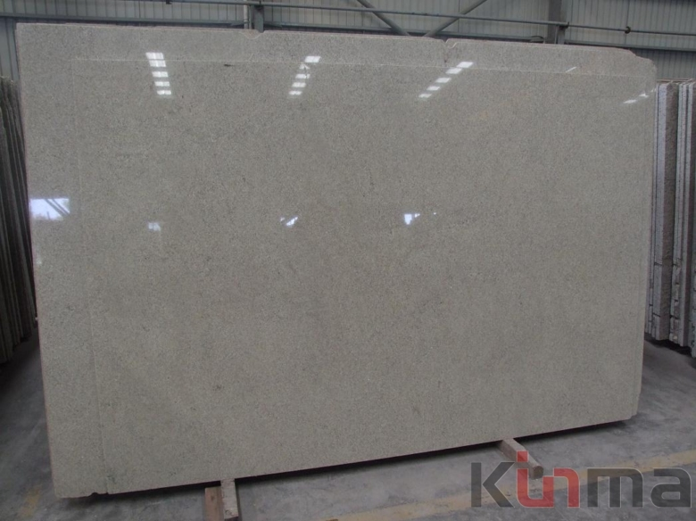 Pearl White granite slab