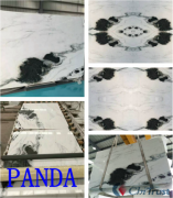 Bookmatched marble PANDA