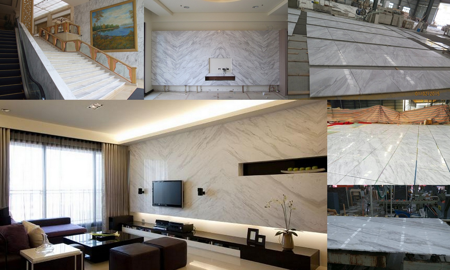 Volkas white Project tile