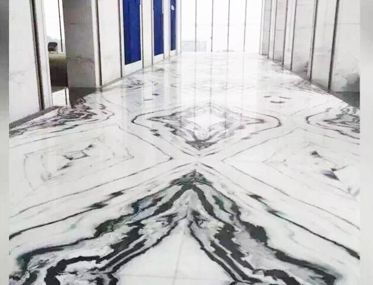 Panda white floor tile