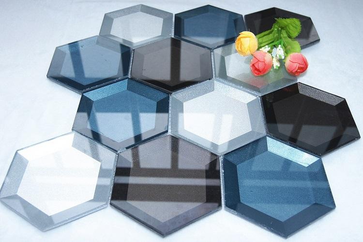 3d Hexagon Glass Mosaic Tile New Promotion