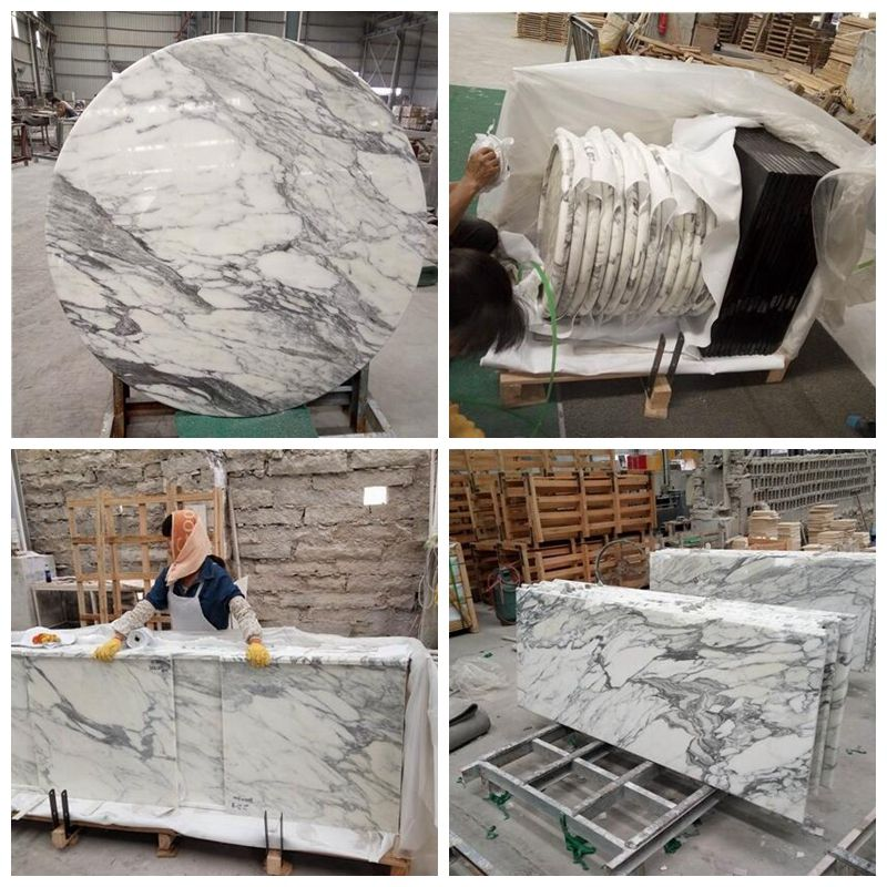 <strong>Arabescato Marble White Marble Kitchen Countertops</strong>