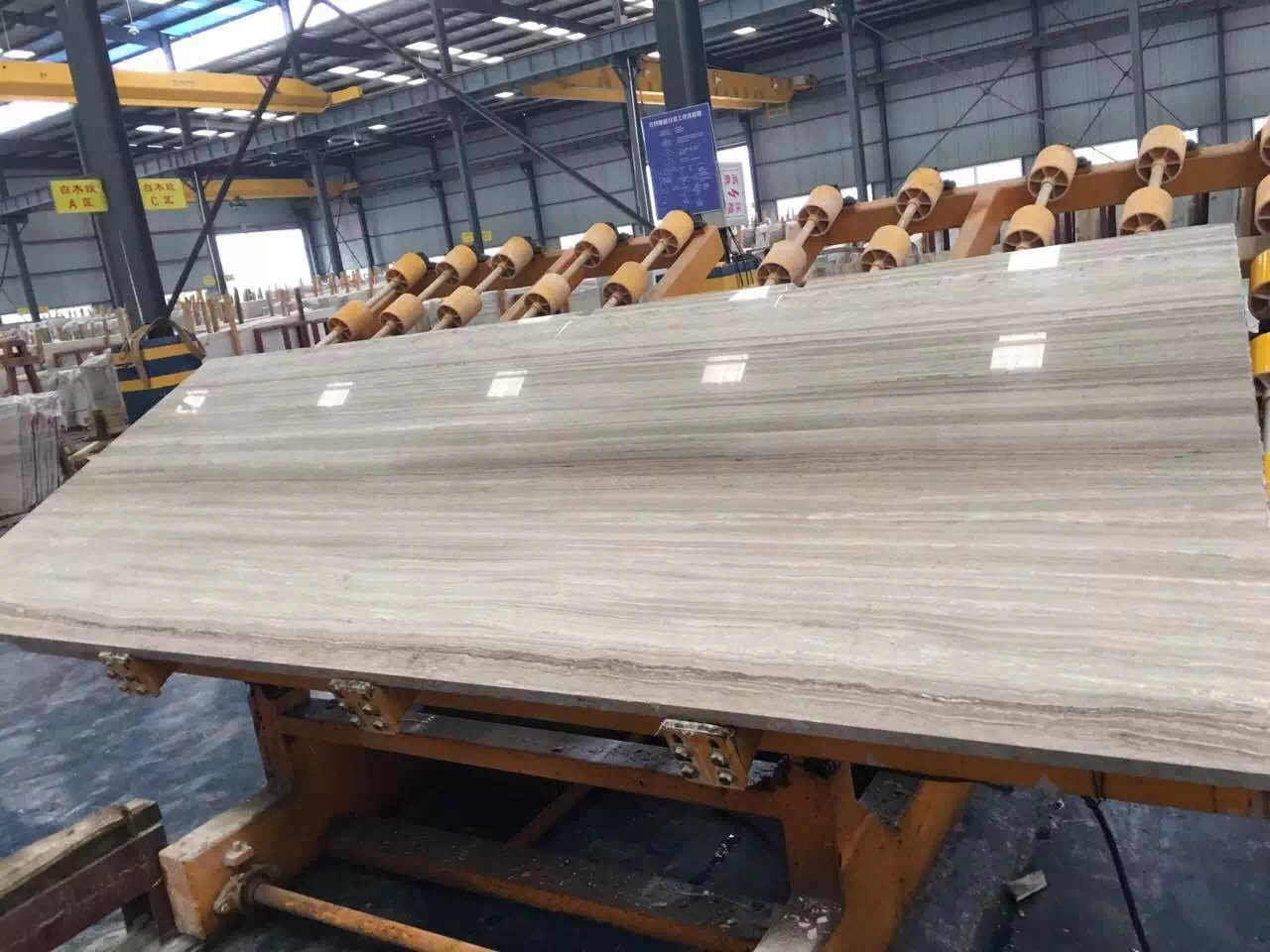 White wooden slabs promotion
