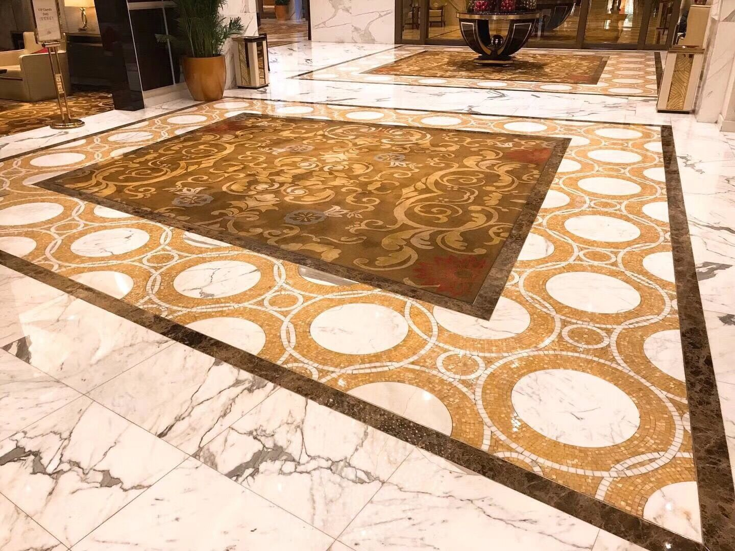Marble and Shell mosaic pattern