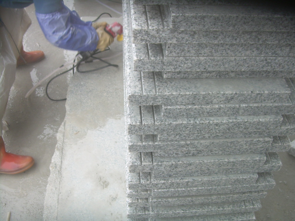 Granite step and riser