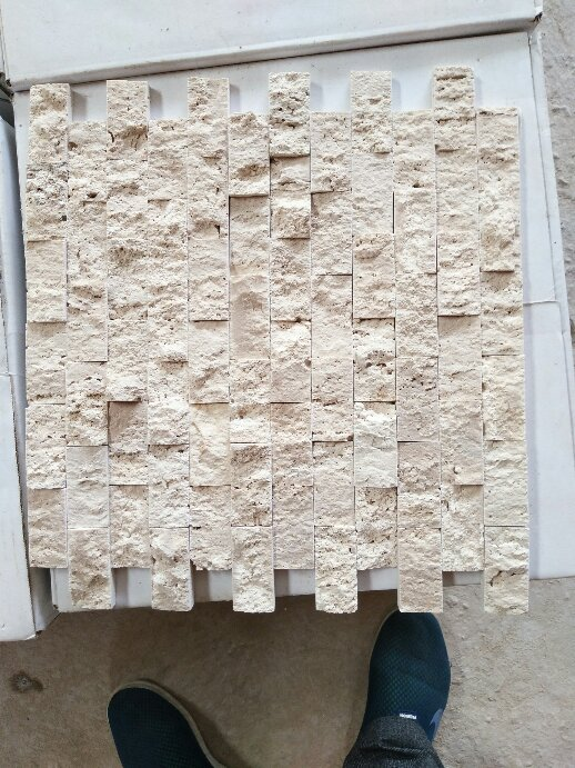 Light travertine culture stone