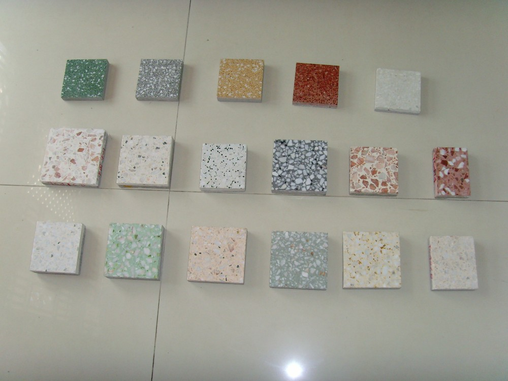 terrazzo design glossy surface floor tiles