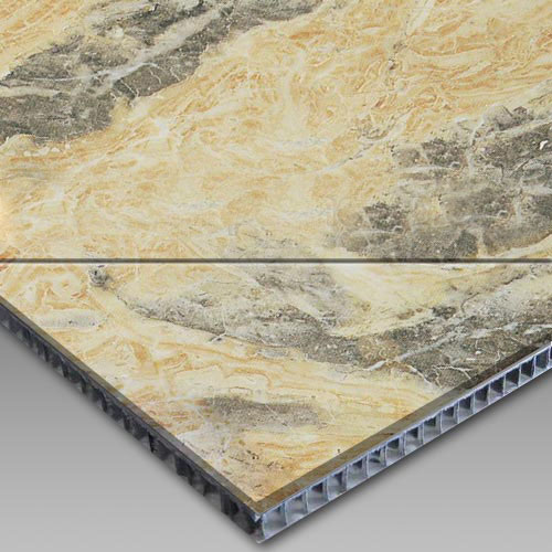 Moca Gold Aluminum Honeycomb Laminated Panel