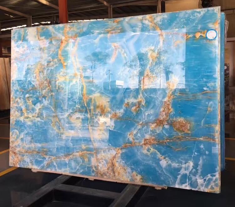 Natural agate slab