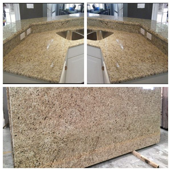 Golden granite countertop