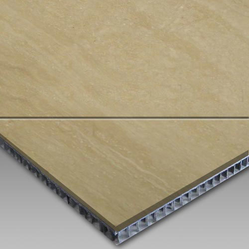 Roman Travertine-Aluminum Honeycomb Laminated Panel