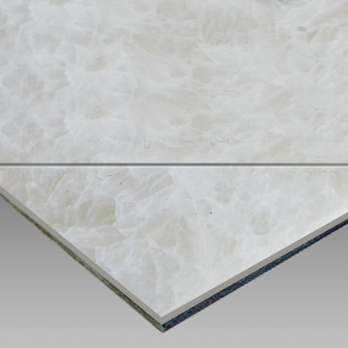 White OnyxAluminium Plastic Laminated Panel