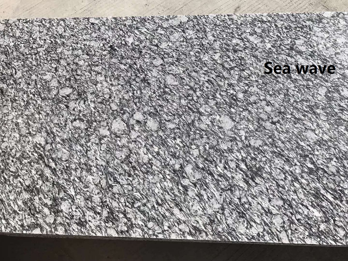 Sea wave granite