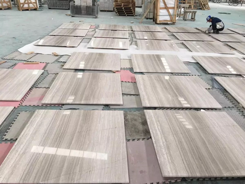 High quality White-wood marble tile
