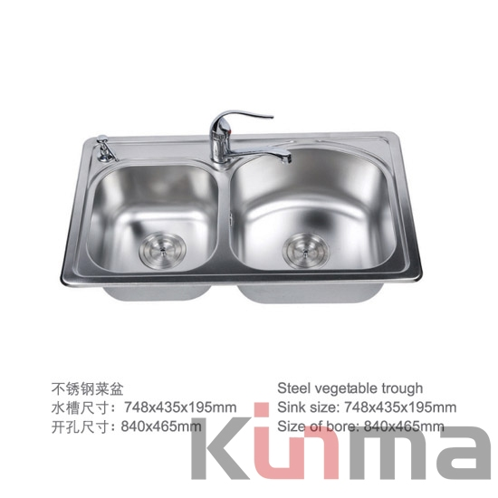 ouble bowl stainless steel sinks
