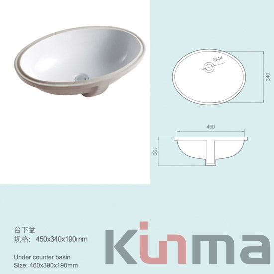 Ceramic lavabo water basin