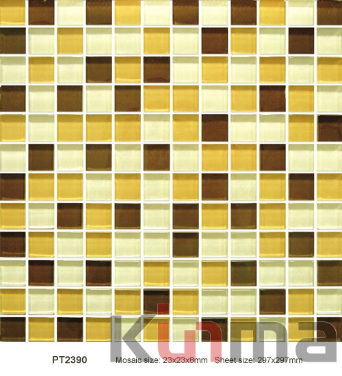 Metal glass mosaic wall tiles