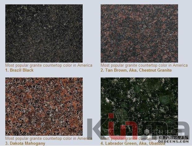 According To An Informal Industrial Survey The Top 10 Most Popular Granite Countertop Colors In America Are As Following