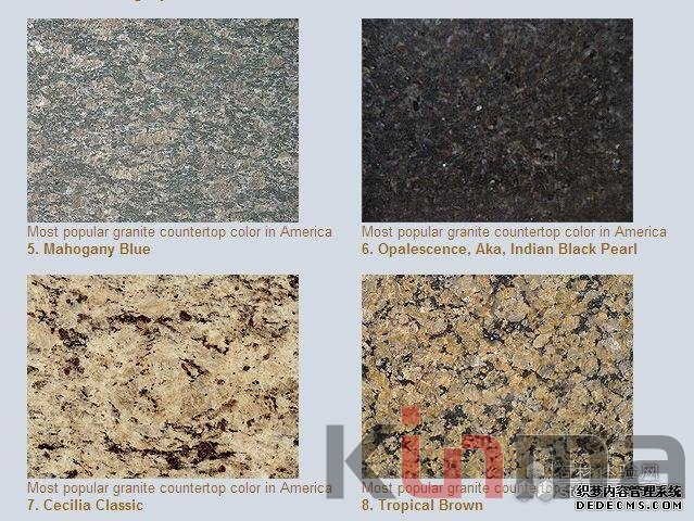 colors popular most granite countertop